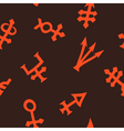 Seamless background with alchemical symbols vector image