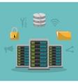 Web hosting and cloud computing vector image
