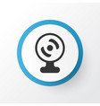 webcam icon symbol premium quality isolated web vector image