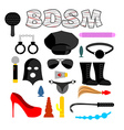 Sex icons for BDSM Sextoys for xxx Knut and gag vector image