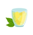 Homemade Lemonade In Glass Traditional Mexican vector image