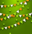 Festive flags with clovers for happy saint vector