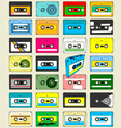Audio Cassette Tape Wallpaper vector image vector image
