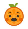 emoji - scream orange smile isolated vector image