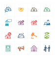 Real Estate Icons - Colored Series vector image vector image