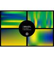 Brazil colors blurred backgrounds set vector image