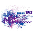 musical grunge texture background vector image