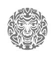 Evil face tribal tattoo ornament vector image