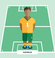 Computer game Australia Soccer club player vector image