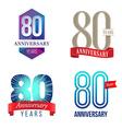 80 Years Anniversary Symbol vector image