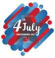 american independence day of 4th july on star vector image