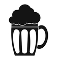 Beer icon simple style vector image