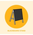 Blackboard stand line icon Cafe menu outdoor vector image