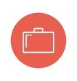 Briefcase thin line icon vector image