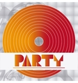 party advertising card design vector image