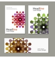 pattern with brochure snd banner abstract vector image