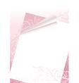 Romantic letter vector image