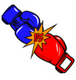 versus boxing gloves on white background design vector image