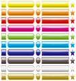 button collection rainbow vector image vector image