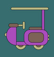 icon in flat design golf machine vector image