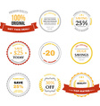Set of Sale labels badges and design elements vector image
