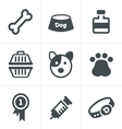 Dog Icons Set Design vector image
