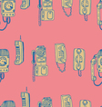 Call Me Baby seamless pattern vector image