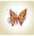 Butterfly and ink splats vector image