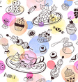 sweets seemless pattern vector image
