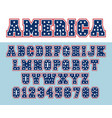 alphabet font template letters and numbers usa vector image