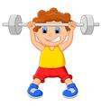 Cartoon lifting barbell vector image
