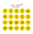 Easy icons 01 Security vector image