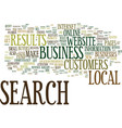 local search makes your business a big fish in vector image