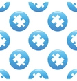 Puzzle piece sign pattern vector image