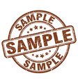 sample brown grunge round vintage rubber stamp vector image
