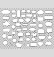 set of comic speech bubbles on transparent vector image