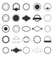 set of labels for logos vector image