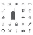 the suitcase icon luggage symbol flat vector image