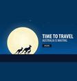 time to travel travel to australia australia is vector image