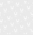 tribal seamless pattern with cartoon bunnies vector image