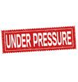 under pressure grunge rubber stamp vector image