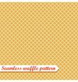 Waffles seamless pattern Sweet vector image