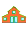 Little house icon cartoon style vector image
