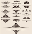 vintage-element-and-border-set vector image vector image