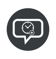 Round add time dialog icon vector image