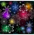 seamless black christmas pattern with vivid snowfl vector image vector image
