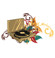turntable with floral vector image
