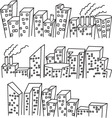 building doodle vector image
