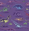 dinosaur vintage color seamless pattern vector image