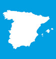map of spain icon white vector image